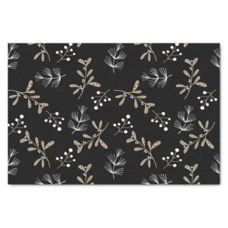 Rustic Floral Christmas Tissue Paper