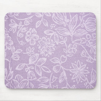 Rustic Floral Design Mouse Pad - Pink