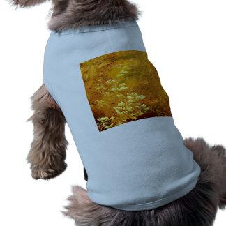 rustic,floral,gold,wavy,chic,elegant,pattern,vinta dog shirt