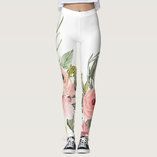 Rustic Floral Leggings - Leggings