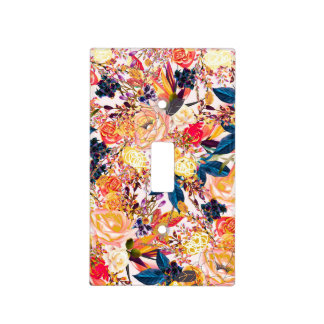 Rustic Floral Light Switch Cover