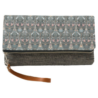 Rustic floral luxury squama military color pattern clutch