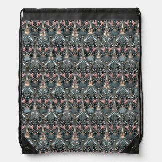 Rustic floral luxury squama military color pattern drawstring bag