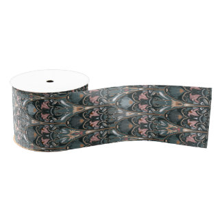 Rustic floral luxury squama military color pattern grosgrain ribbon