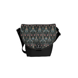 Rustic floral luxury squama military color pattern messenger bag
