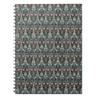Rustic floral luxury squama military color pattern notebook