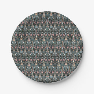 Rustic floral luxury squama military color pattern paper plate