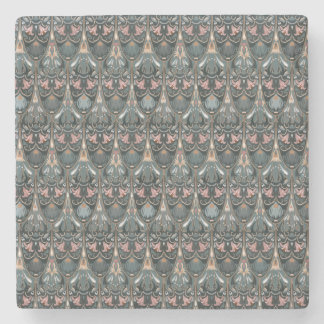 Rustic floral luxury squama military color pattern stone coaster