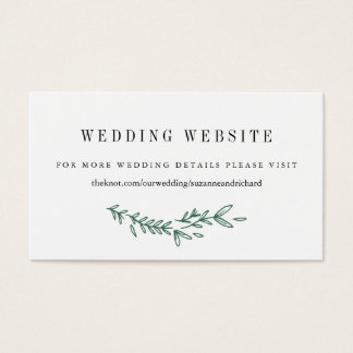 Rustic Floral Monogram Wedding Website Cards