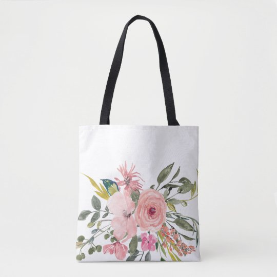 Rustic Floral Tote Bag - Bridesmaid Gift
