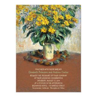 Rustic Floral Vintage 6.5x8.75 Wedding Invitation