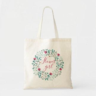 Rustic Floral Wreath | Flower girl | Wedding Tote Bag