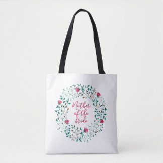 Rustic Floral Wreath | Mother of the Bride Wedding Tote Bag