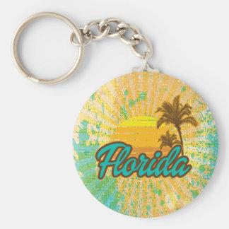 Rustic, Florida Basic Round Button Keychain