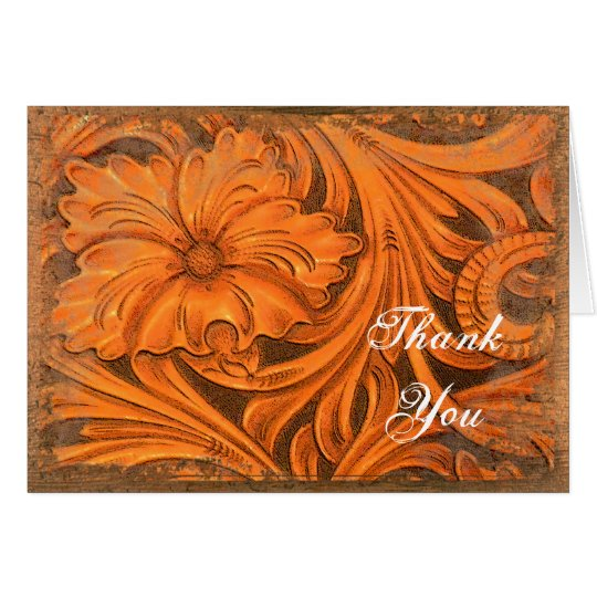 Rustic Flower Country Western Thank You Card