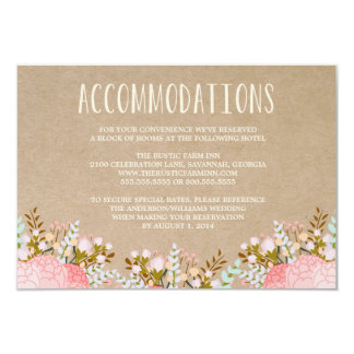 Rustic Flowers | Accommodation Enclosure Card