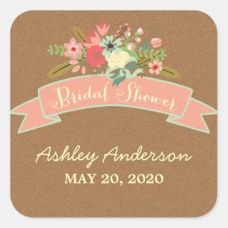 Rustic Flowers | Bridal Shower Sticker