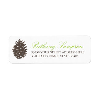 Rustic Forest Return Address Labels