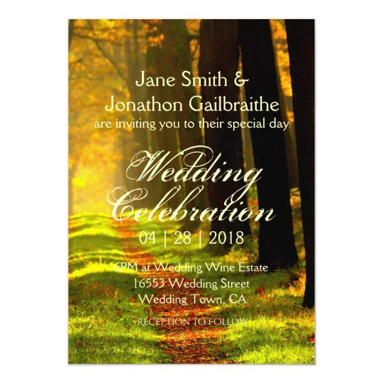 Rustic Forest Road Estate Wedding Card