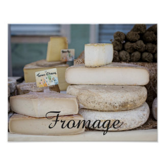 Rustic French Cheese Selection Poster