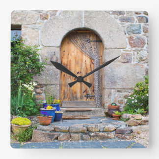 Rustic French Gite in Brittany France Square Clock