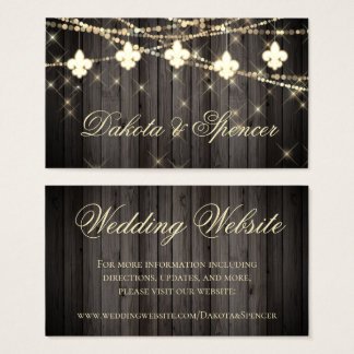 Rustic French Wedding | Fleur de Lis Light Website Business Card