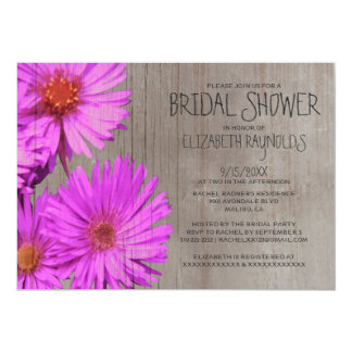 Rustic Frikart's Aster Bridal Shower Invitations