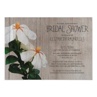 Rustic Gardenias Bridal Shower Invitations