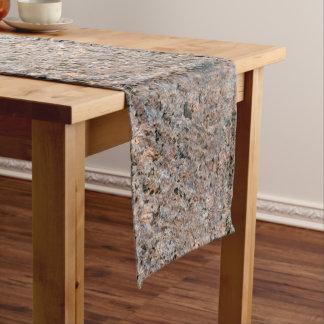 Rustic Geology Rock Texture Medium Table Runner