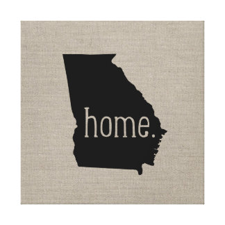 Rustic Georgia Home State Wrapped Canvas Art Canvas Prints