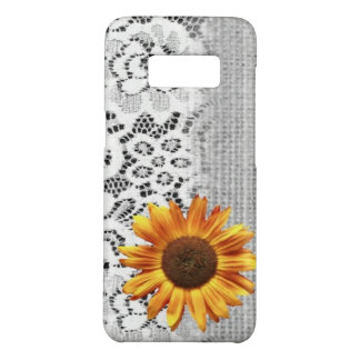 rustic girly western country lace burlap sunflower Case-Mate samsung galaxy s8 case
