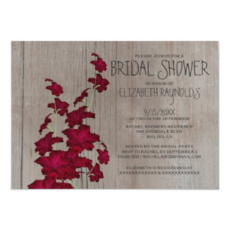 Rustic Gladiolas Bridal Shower Invitations