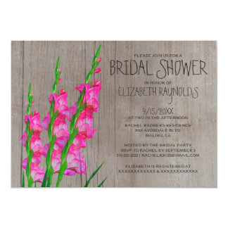 Rustic Gladiolus Bridal Shower Invitations