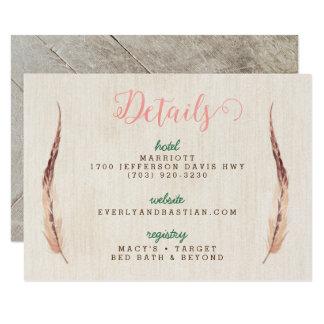 Rustic Glam Wedding Information Cards