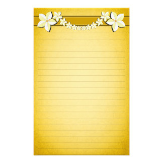 Rustic Gold Floral Parchment Lined Writing Paper