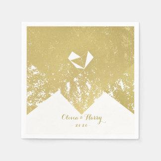 Rustic Gold Vintage Glam Wedding Napkins Paper Napkin