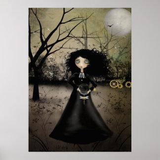 Rustic Goth Steampunk Alchemy Art Poster