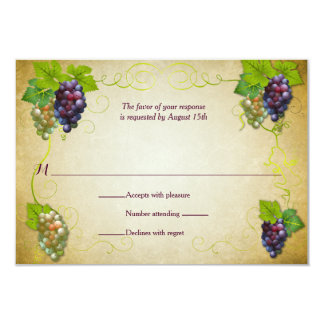 Rustic Grapevine Vineyard Wedding Event Reply RSVP Card