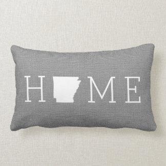 Rustic Gray Arkansas Home State Throw Pillow