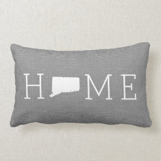 Rustic Gray Connecticut Home State Throw Pillow
