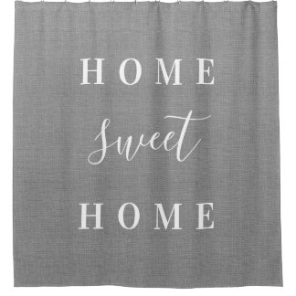 Rustic Gray Home Sweet Home Shower Curtain