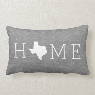 Rustic Gray Texas Home State Throw Pillow