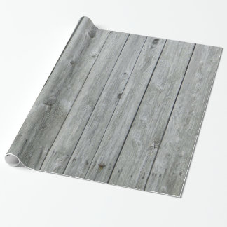 Rustic Gray Wood Grain Wrapping Paper