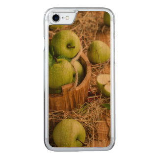 Rustic Green Apples Fruit Basket Country Style Carved iPhone 7 Case
