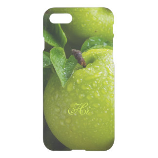 Rustic Green Apples Fruit Dewdrops Country Style iPhone 7 Case