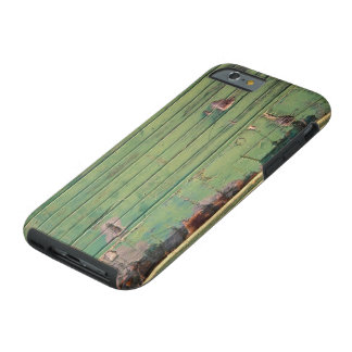 Rustic Green Woodgrain Weathered Tough iPhone 6 Case