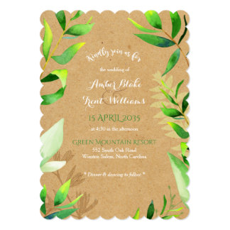 Rustic Greenery Wedding Invitation