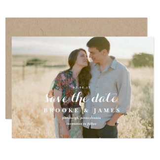 Rustic Greenery Wedding Save the Date Announcement