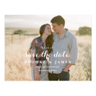 Rustic Greenery Wedding Save the Date Post Card