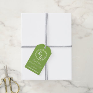 Rustic Greenery   Wedding Thank You Botanical Pack Of Gift Tags